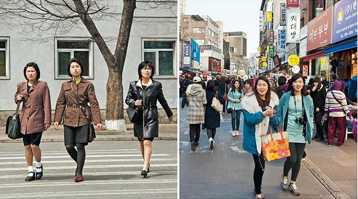 Өмнөд ба Хойд Солонгосыг харьцуулбал...