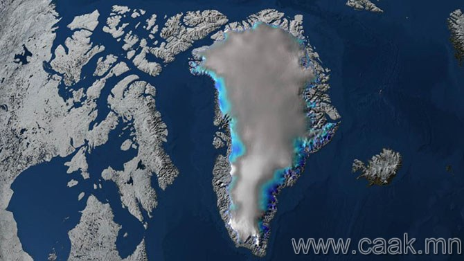 Гренландын мөсөн бамбай.