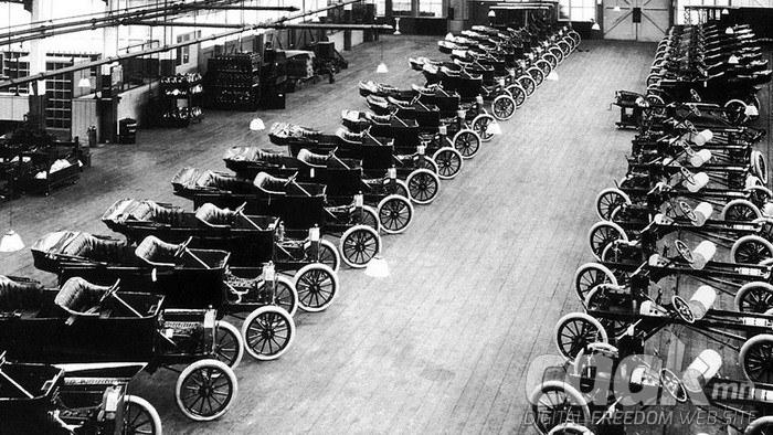 Хенри Форд анх удаагаа үйлдвэрлэлд угсралтын дамжлагыг нэвтрүүлсэн хүн гэдэг нь худал.