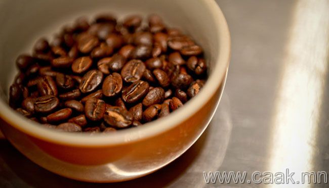 Кофены үр хамрандаа хийсэн нь.