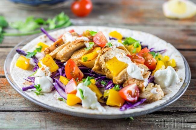 Тахианы мах, ногоотой салат