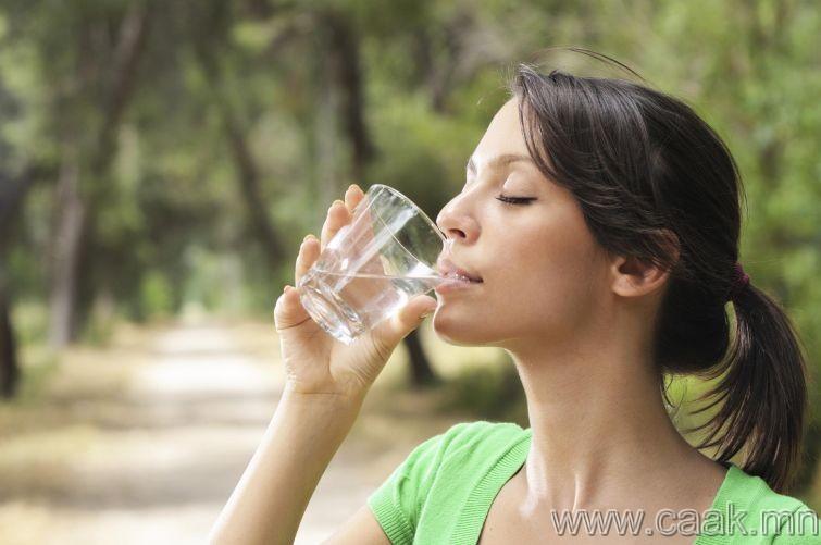 Аягандаа бага хэмжээний ус хийж бай