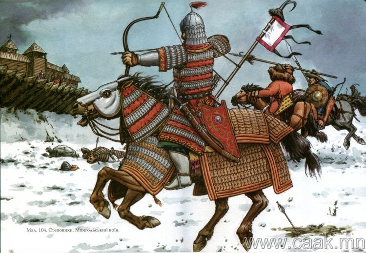 Монголчууд 2 төрлийн нум сумаар байлддаг байжээ.