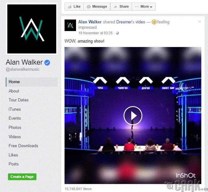 "DJ ""Alan Walker""-ийн гайхшрал"