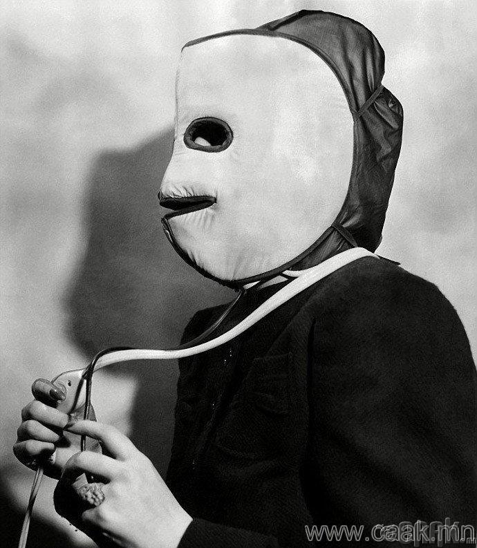 Нүүр болон толгойны арьсийг халаах маск. 1940 оны 6 сар.