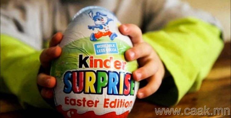 АНУ: «Киндер сюрприз» өндгөн шоколад