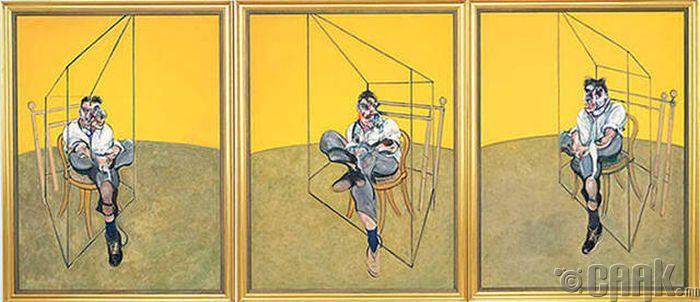 """Three Studies of Lucian Freud"" - 144,700,000 доллар"