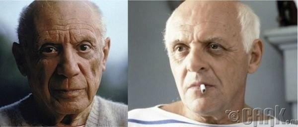 "Пабло Пикассо (Pablo Picasso)- жүжигчин Энтони Хопкинс (Anthony Hopkins) ""Surviving Picasso"""
