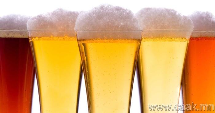 Янз бүрийн өнгөтэй хөнгөн согтууруулах ундаа шарталтаас сэргийлэхэд тусална