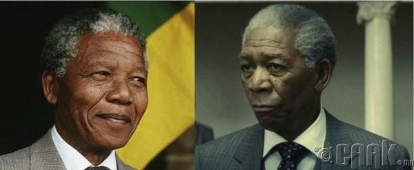 "Нельсон Мандела (Nelson Mandela)- жүжигчин Морган Фримен (Morgan Freeman) ""Invictus"""
