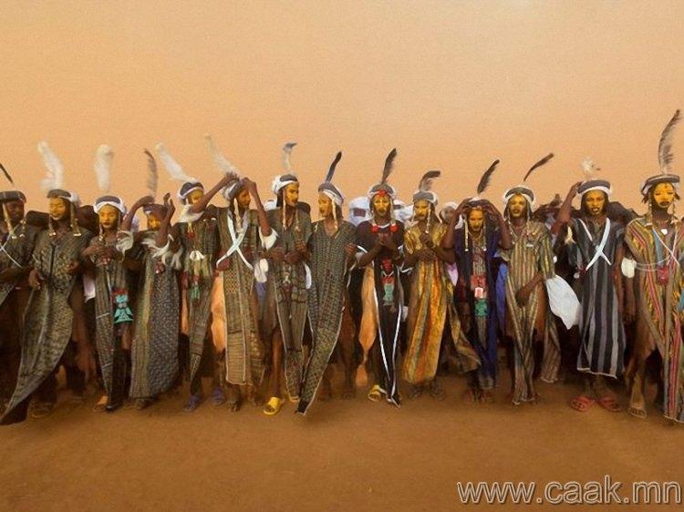 Нигер улсын Gerewol наадам.