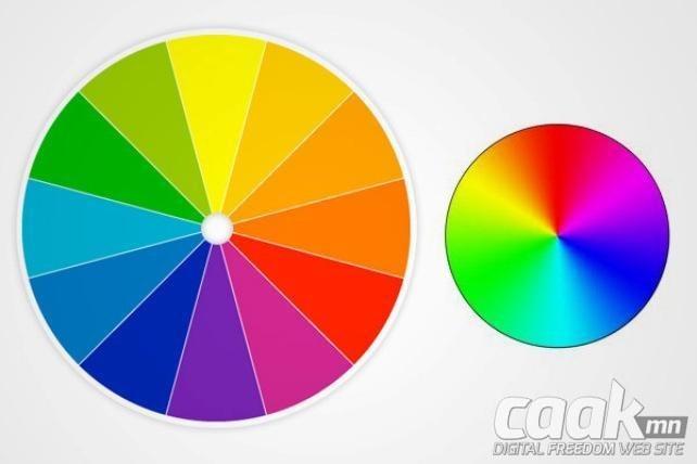 Өнгөний тойрог нь өнгөнүүдийг тодорхойлох хамгийн шилдэг арга юм.