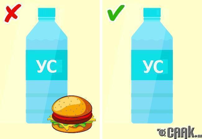Хоол идэж байх үедээ болон хоолны дараа шууд ус ууж болохгүй