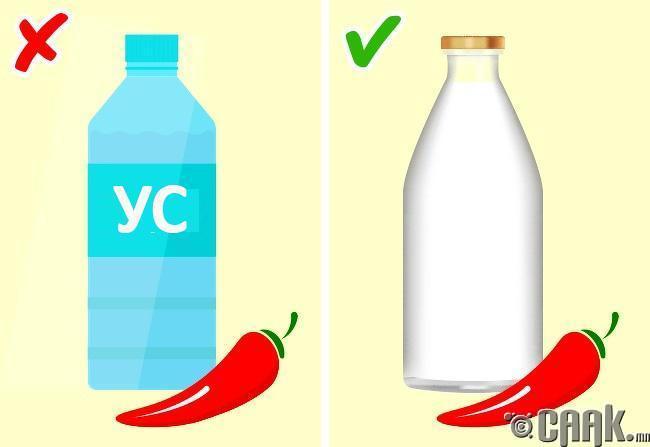 Халуун ногоотой хоолыг усаар даруулж болохгүй