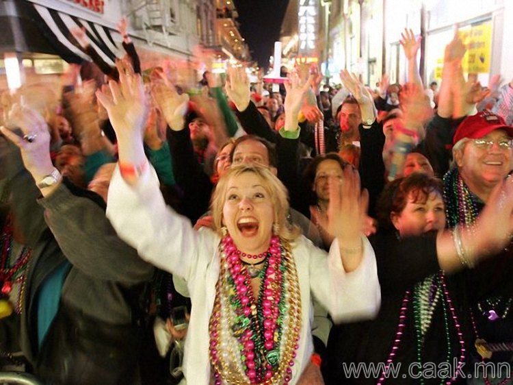 Луизиана мужийн Mardi Gras наадам.
