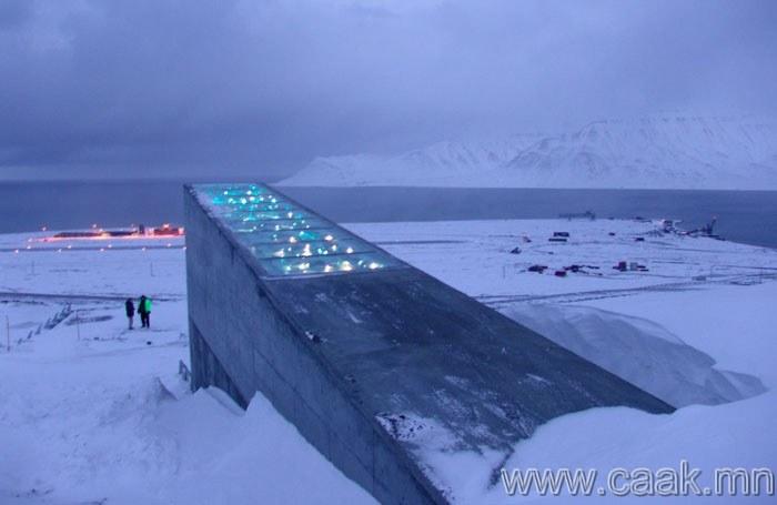 Норвеги, Шпицберген, Үр хадгалах дэлхийн агуулах