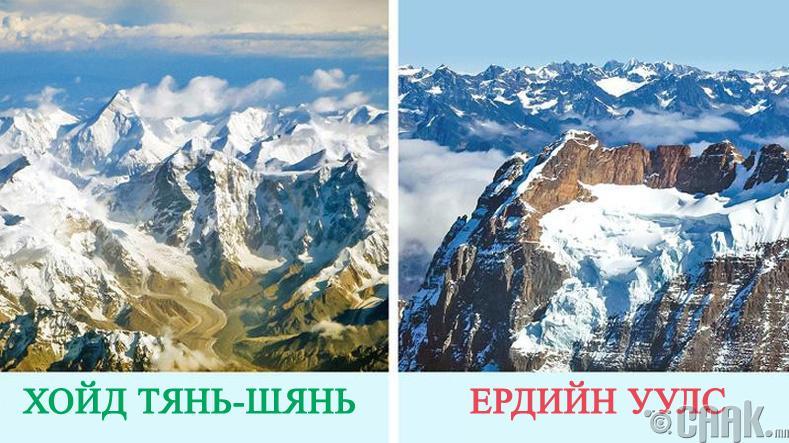 Даралт ихэсгэдэггүй цорын ганц уул бол хойд Тянь-Шань