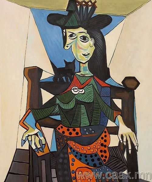 Пабло Пикассо — Дора Маар ба тvvний муур (1941)