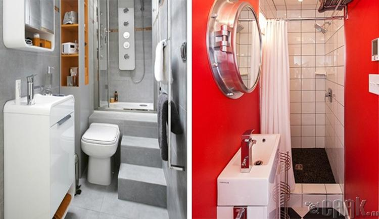 Угаалгын өрөөний өвөрмөц шийдэл