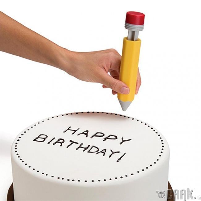Харандаа хэлбэртэй бялуу чимэглэгч