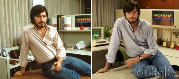 """Стив Жобс (Steve Jobs)- жүжигчин Эштон Кутчер ( Ashton Kutcher) """"Jobs"""""""
