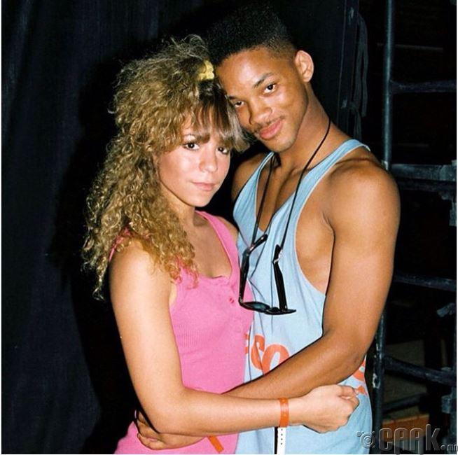 18 настай Мэрайя Кэри, 19 настай Уилл Смит нар 1988 онд