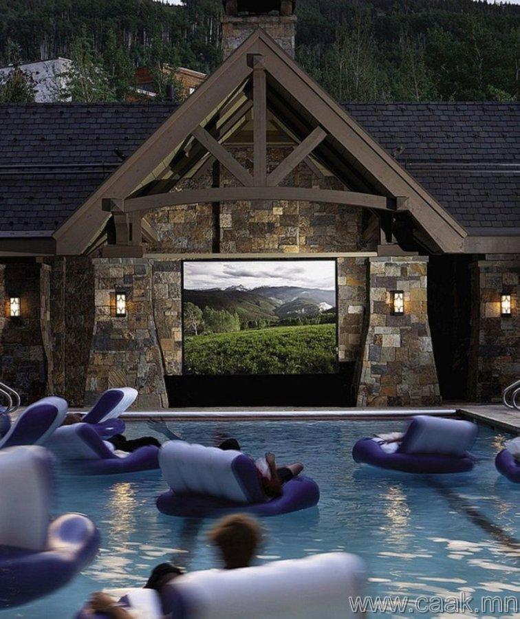 Кинотеатртай усан сан.