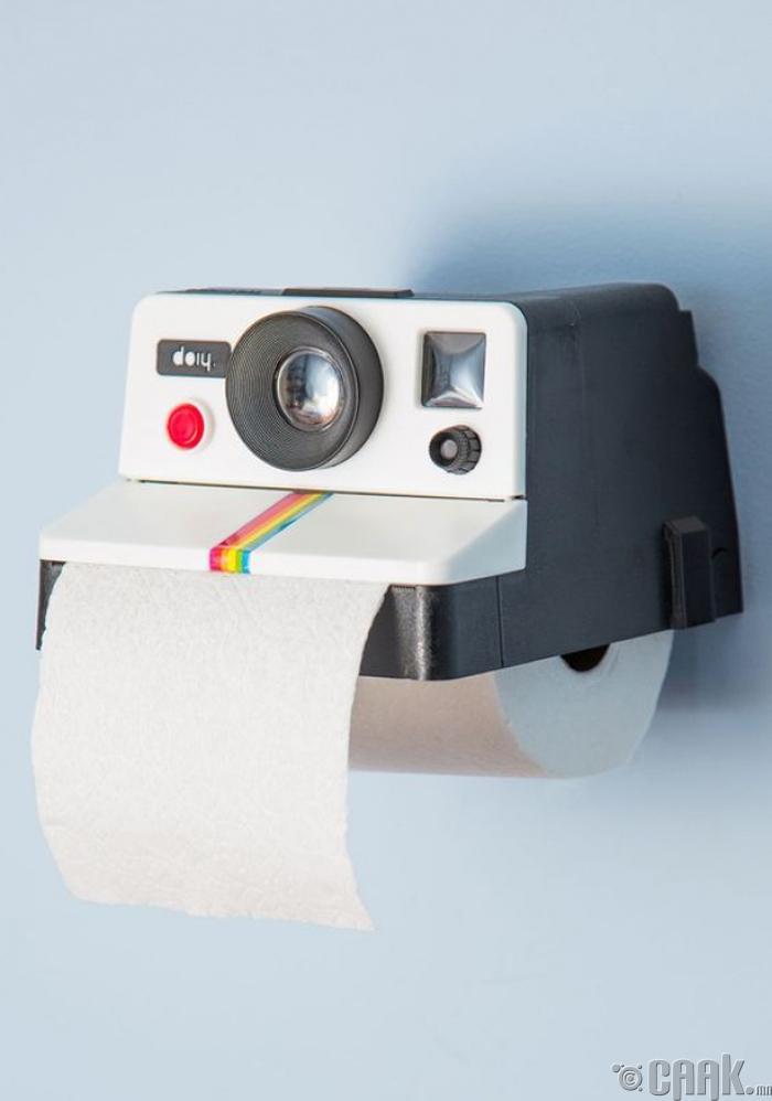 Зургийн аппаратын загвар бүхий ариун цэврийн цаас тогтоогч