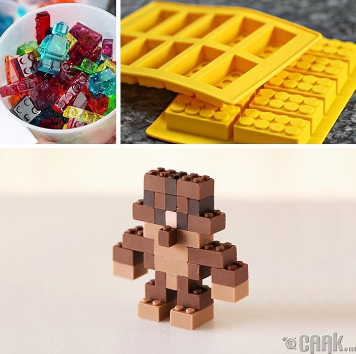 Лего тоглоом бүхий шоколатны хэв