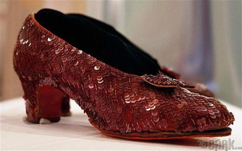 """""""The Wonderful Wizard of Oz"""" хүүхэлдэйн киноны Доротигийн гутал"""