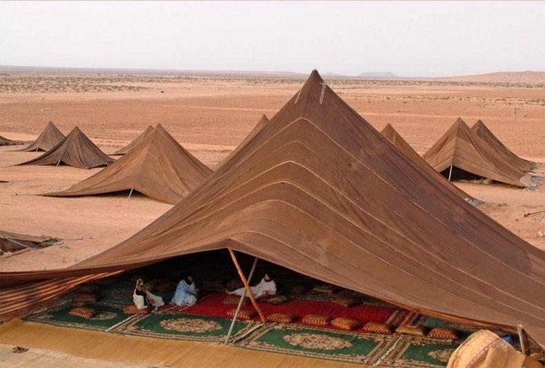 Сахарын цөлийн нүүдэлчин Бедуин хүмүүсийн асар