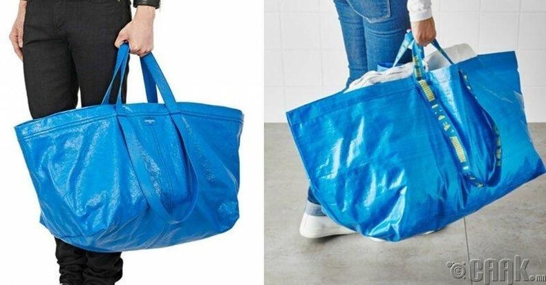 """2145 долларын үнэтэй """"Balenciaga""""-ийн тансаг цүнх ба 0.99 долларын үнэтэй """"Ikea""""-ийн тор"""