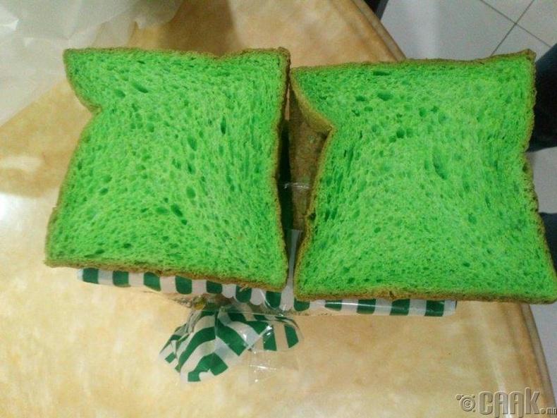 """""""Пандан"""" навчаар хийсэн ногоон талх"""