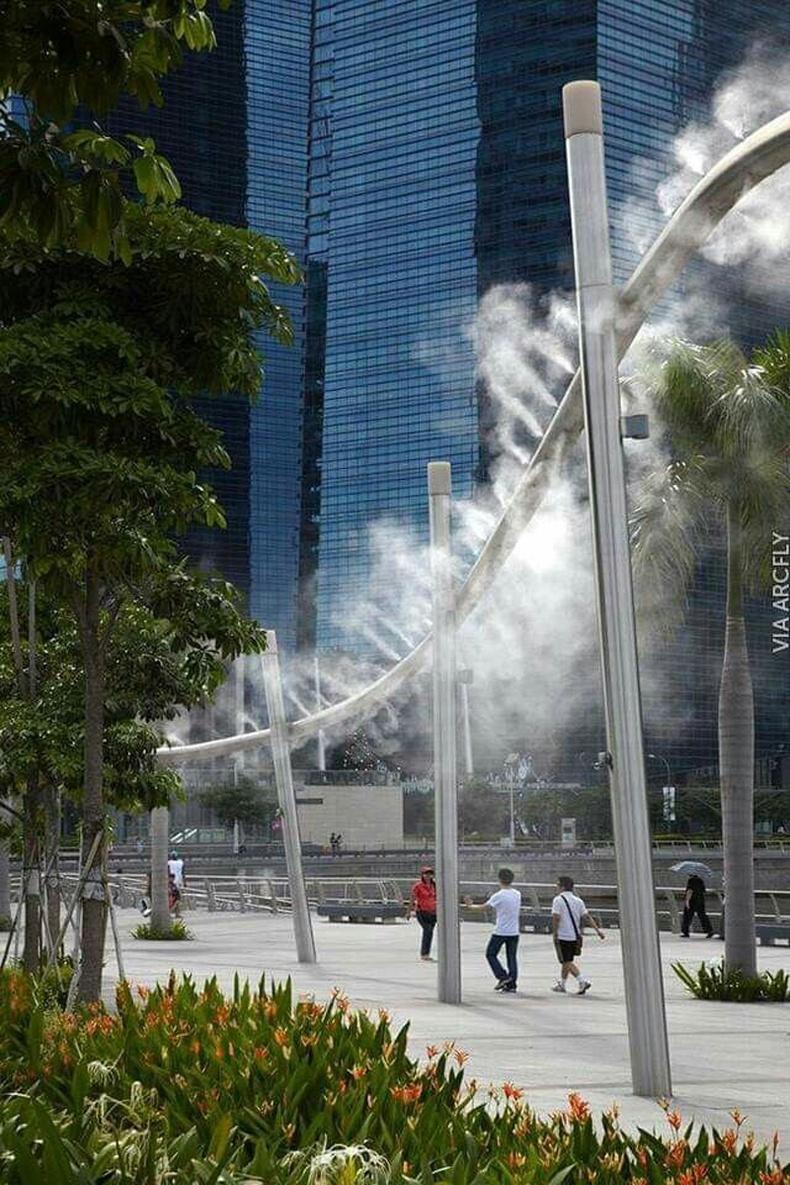 Сингапур дахь агаар чийгшүүлэгч шон