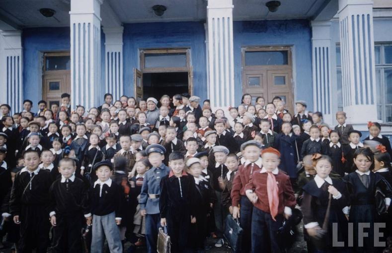 1-р сургуулийн сурагчид, 1956 он