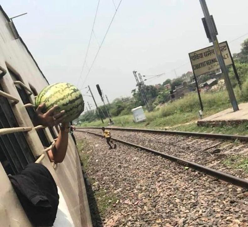Нэгэн эр галт тэрэг зогсоход буудал дээрээс тарвас худалдан авсан ч цонхоор багтахгүй гэдгийг мэдсэнгүй.
