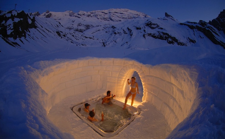 Альпийн нуруун дахь халуун рашаан