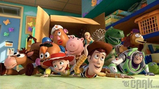 Toy Story 1, 2, and 3 (1995–2010)
