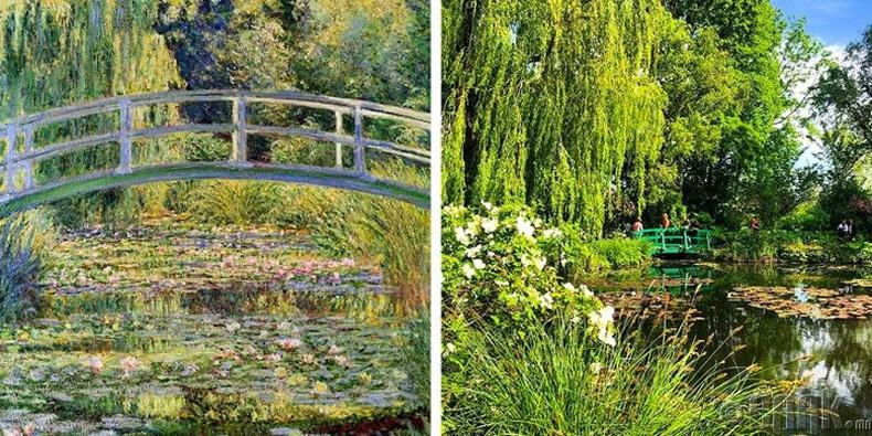 "Клод Моне - ""Бадам лянхуа цэцэг ба Япон гүүр"""