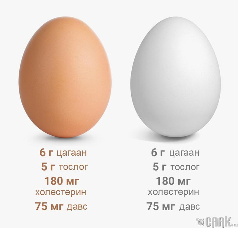 Тэжээллэг чанарт өндөгний өнгө хамаагүй