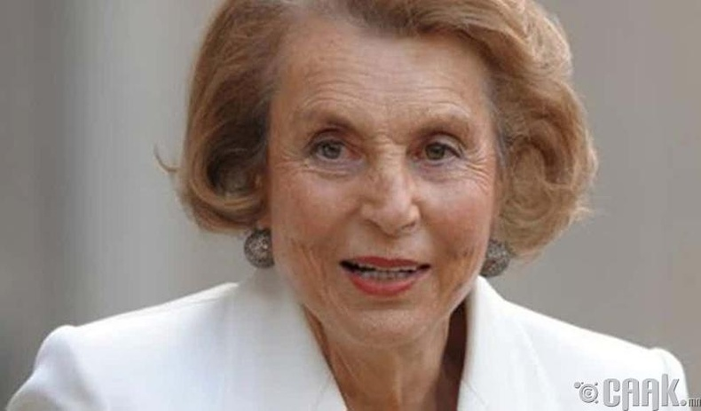 Лилиан Беттенкорт (Liliane Bettencourt) - 39.5 тэрбум доллар