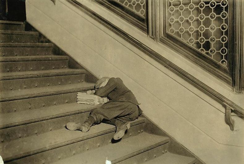 Шатан дээр унтсан бяцхан шууданч, Нью-Жерси