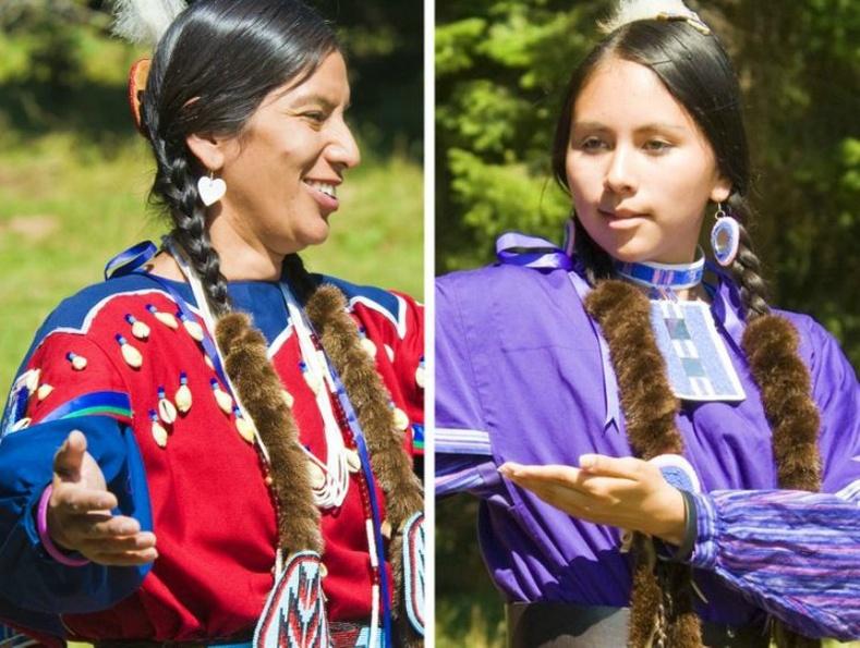 Индианы Nez Percé омгийн бүсгүйчүүд