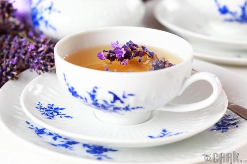 Лаванда цэцгийн цай
