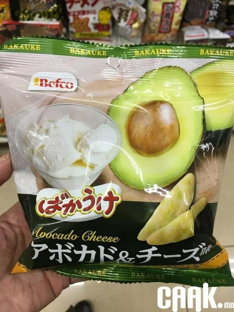 Авокадо болон бяслагтай чипс