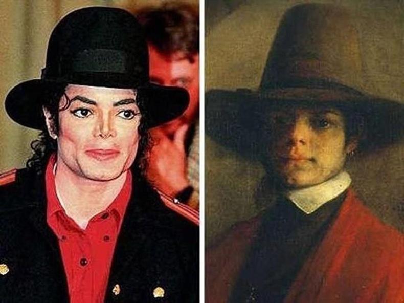 Майкл Жексон ба үл мэдэгдэх хүний хөрөг (Michael Jackson)