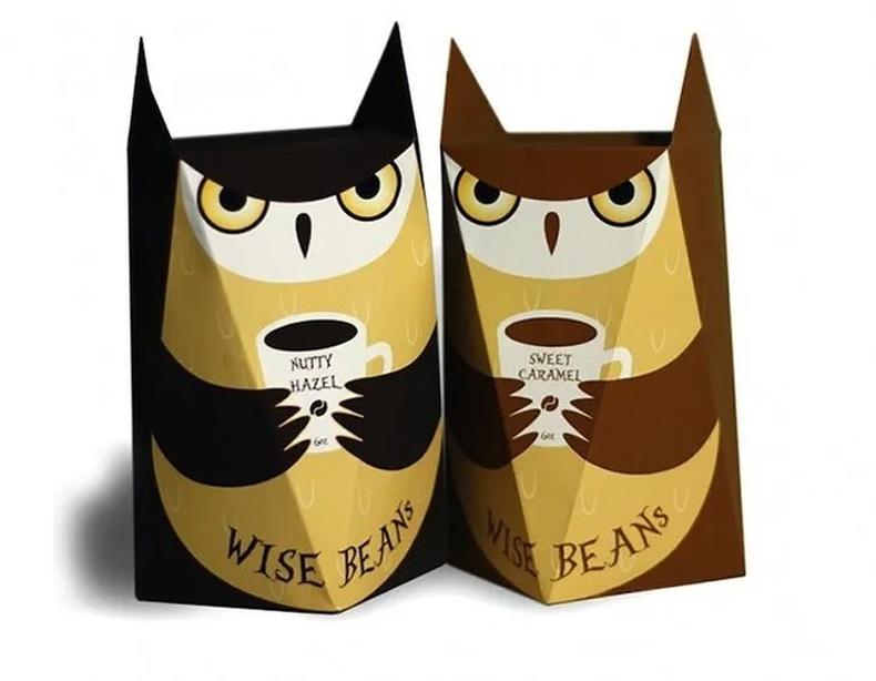 Wise Beans брэндийн кофе. Дизайнер - Fiona Huang