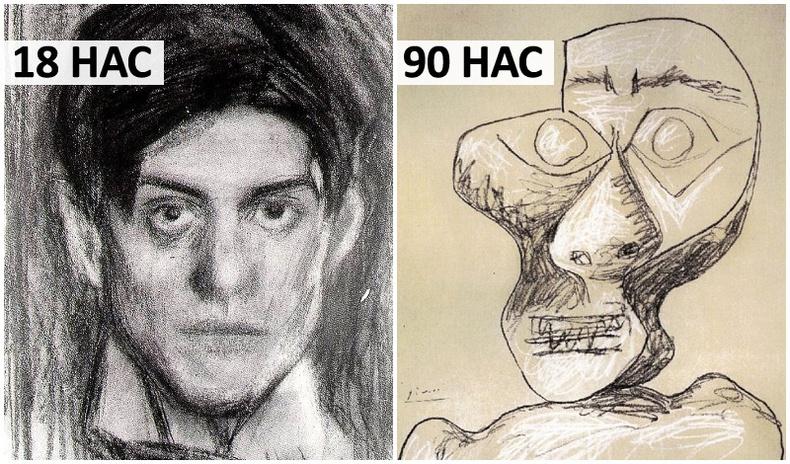 Пабло Пикассогийн өөрийн хөрөг амьдралынх нь туршид хэрхэн өөрчлөгдсөн бэ?
