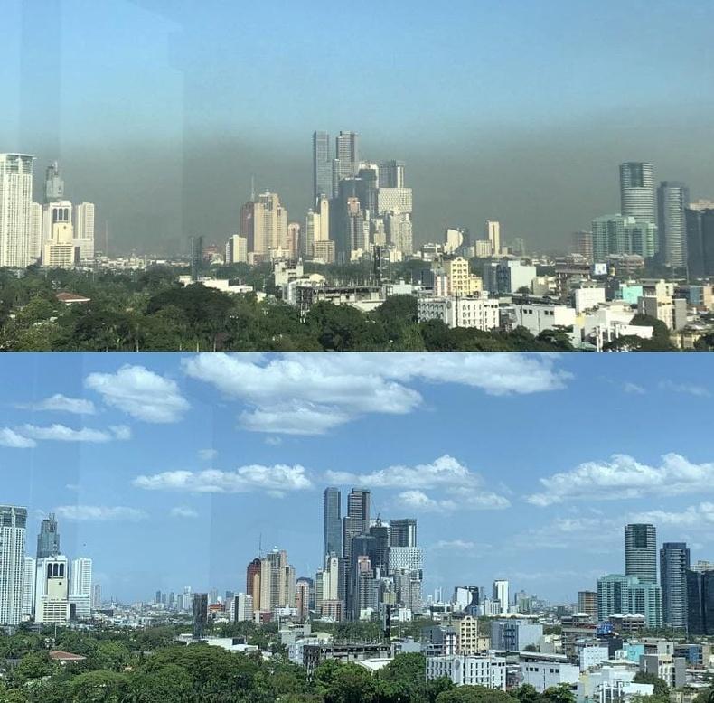 Филиппиний Манила хот хөл хорионы өмнө ба дараа