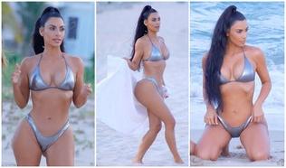 Ким Кардашиан далайн эрэгт халуухан биеэ гайхуулав
